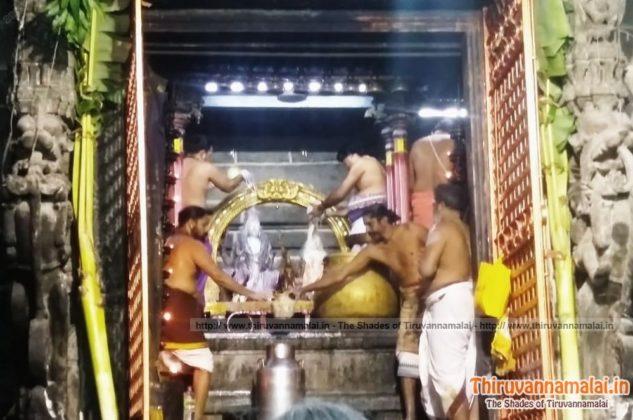 arunachaleswarar milk abishekam